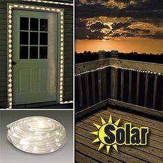SOLAR POWERED ROPE LIGHTS