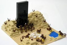 """The monolith from """"2001: A Space Odyssey"""", Lego-fied. Geekgasmic!"""
