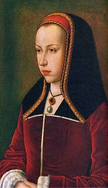 Margaret of Austria (1480 - 1530). Princess of Asturias in 1497. She married Juan of Spain, and had a stillborn daughter after his death. She remarried to Philibert of Savoy after Juan's death.