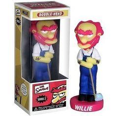 Funko Wacky Wobbler The Simpsons Series 2 Willie http://popvinyl.net #funko #funkopop #popvinyls