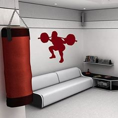 Wall Decal Vinyl Sticker Sport Competitions Team People Enthusiasm Fitness Training Barbell Weight Bodybuilder Athlete Gym Design Sports Club Home Interior Sports Equipment Decor Art Murals M150