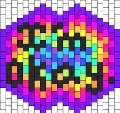 Im Okay Mask bead pattern Kandi Mask Patterns, Perler Patterns, Peyote Patterns, Bead Patterns, Beading Patterns Free, Beading Ideas, Rave Candy, Rave Mask, Rave Makeup