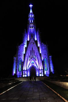 Cathedral of Our Lady of Lourdes, also known as Cathedral Rock... Brazil