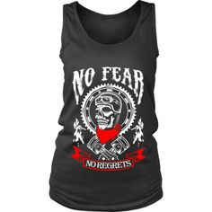 Motorcycle - 'No Fear' Women's Tank Cave, Athletic Tank Tops, Tank Man, Motorcycle, Tees, Mens Tops, T Shirt, Collection, Fashion