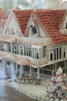Gingerbread house.--that takes it up a notch...
