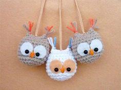 Free owl keychain crochet pattern