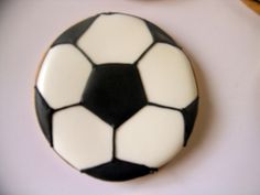 football or soccer cookie