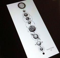Geometric Solar System Tattoo and Stencil Instant Digital image 0 Spine Tattoos, Body Art Tattoos, Sleeve Tattoos, Tatoos, Tattoo Ink, Xoil Tattoos, Circle Tattoos, Shoulder Tattoos, Forearm Tattoos
