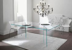 Mesa moderna / de cristal / rectangular / de exterior - LIVINGSTONE by Giulio Mancini - TONELLI Design