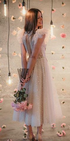 Wedding Dress Shopping, Wedding Party Dresses, Bridesmaid Dresses, Prom Dresses, Tea Length Wedding Dress, Tea Length Dresses, Pretty Dresses, Beautiful Dresses, Looks Party