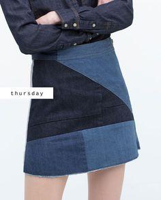 #zaradaily #thursday #woman #skirt #denim