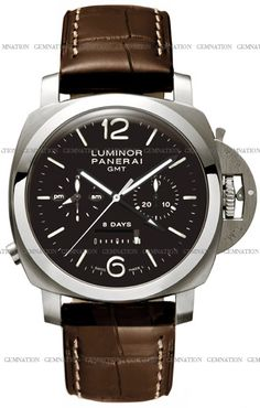 Panerai Luminor 1950 Titanium 8 Days Chrono Monopulsante GMT 44mm Mens Wristwatch Model PAM00311
