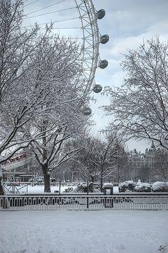 Winter by the London Eye