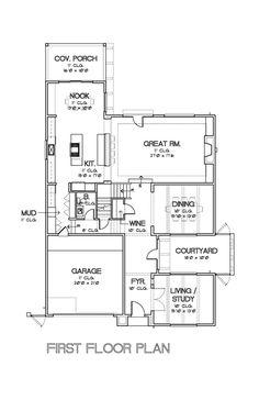 Modern Style House Plan - 4 Beds 3.5 Baths 4385 Sq/Ft Plan #449-17 Floor Plan - Main Floor Plan - Houseplans.com