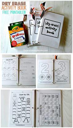 Dry Erase Activity Book   Free Printable   simplykierste.com