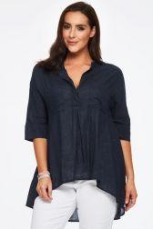 Oneseason Linen Frankie Shirt - Ink Blue 1
