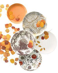 Autumnal Plates...Martha Stewart