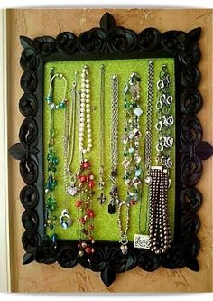 now i dont feel the need to save up and buy an already made wall hanging jewlery box...now to find a kick ass frame...