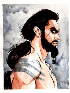 Khal Drogo by Terry Blas - Game of Thrones Fanart