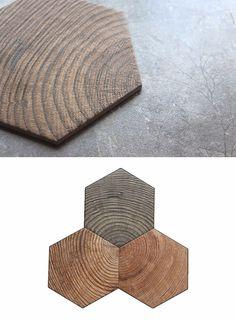 Decorative Euro style interior design wooden grain hexagon ceramics floor tile Modern design wall tiles (3)