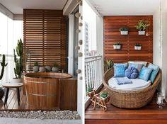 Decorando sacadas e varandas pequenas - confira diversas idéias e inspirações para você decorar a sua varanda ou sacada com pouco espaço.