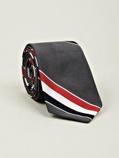 Thom Browne Men's Classic Tie in dark grey