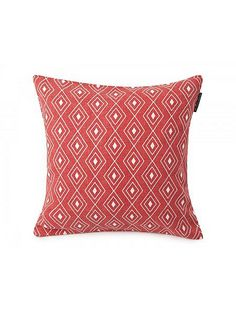 Authentic Graphic Print Sham 50x50 in Red