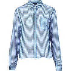 Opposite Stripe Shirt ($72) via Polyvore
