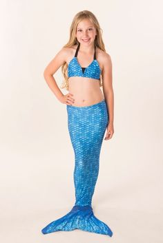 Mermaid Tail in Arctic Blue