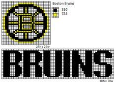 free crochet patterns bruins afgahn | NHL Logos and Name Plates