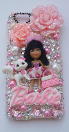 BARBIE Case pink handbag sunglasses love i phone 4 5 6 logo pearls crown tiara puppy dog lolita bow pink heart pink crystals love Phone 4, Phone Cover, Birthday Candy, Bling Shoes, Just Girly Things, Pink Handbags, Cute Phone Cases, Tiaras And Crowns, Pink Aesthetic
