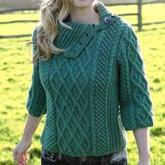sweater with asymmetrical collar