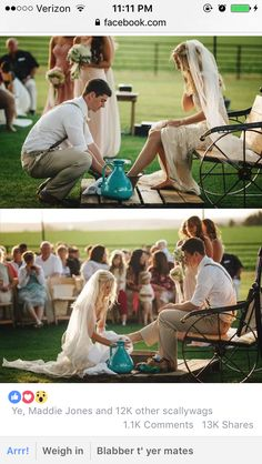Beautiful symbol of humility and service in marriage