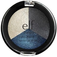 e.l.f. Baked Long-lasting and Shimmering Color Eyeshadow Trio (e.l.f. Baked Eyeshadow Trio - Smokey Sea) * Check out this great product. (This is an affiliate link and I receive a commission for the sales) #CombinationEyeLinersShadows