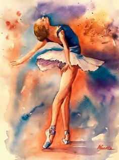 Pin de joanita els em diy ballet painting, ballerina art e b Ballet Drawings, Dancing Drawings, Art Drawings, Watercolor Dancer, Ballerina Painting, Watercolor Painting, Ballet Art, Ballet Dancers, Ballerina Kunst