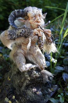 Fantasy | Whimsical | Strange | Mythical | Creative | Creatures | Dolls | Sculptures | Pan Flute by ~MarylinFill on deviantART