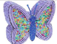 Beadworx Glass Beads NWT Beaded Wire Butterfly Nightlamp Nightlight Light Lamp
