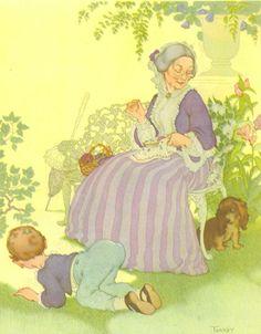 Sing Mother Goose, Vintage Children's Print, Marjorie Torrey Illustration, Where Has My Little Dog Gone