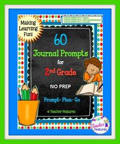 "2nd Grade Writing Prompts  ""NO PREP"" writing prompts for First Grade. Just print n' go! Each template lists the Common Core Standard on the bottom of the sheet."