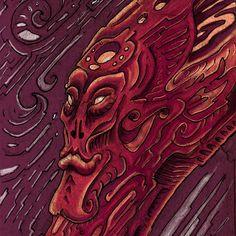 """Entity"" (Ink on paper, Acid Art, Visionary Art, Psychedelic Art, Ink, Paper, Artist, Instagram, Artists, India Ink"