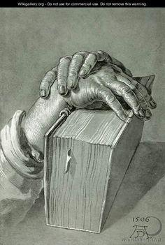 Albrecht Durer (1471-1528) ~ Hand Study with Bible ~ 1506