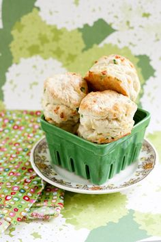 Cheddar Green Onion Biscuits @ http://www.krissys-creations.com/2012/04/cheddar-green-onion-biscuits.html