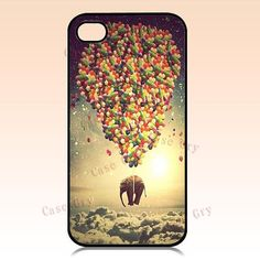 iphone 4 case iphone 4s case Elephant and balloons by CaseDry, $9.90