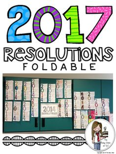 A new year (or a new school year) is a great time to turn over a new leaf, try new things, and end bad habits. Right around winter break (or at the beginning of a new school year) have a class discussion about resolutions. Brainstorm goals that are attainable and share some of your own.