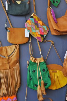 The oh so desirable Missibaba's bags and pouches use the most wide and wonderful color palette and patterns, with just the right amount of South African flair Credit: Between 10 and 5 Pouches, South Africa, Bucket Bag, Palette, African, Contemporary, Patterns, How To Make, Leather