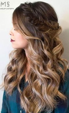 Romantic Half Up Half Down Prom Hairstyles