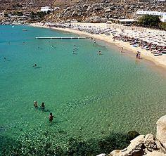 Super Paradise Beach in Mykonos, Greece