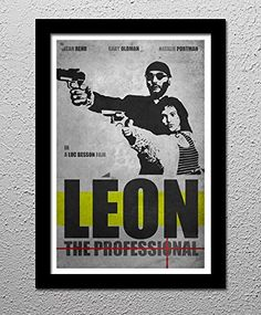Leon The Professional - Jean Reno - Natalie Portman - Original Minimalist Art Poster Print. Jean Reno, Gary Oldman, Natalie Portman Your choice of 13x19 or 20x30 All prints signed by the artist. Posters printed on high quality Photo Paper with premium quality inks. The posters are mailed rolled in high-quality tough tubes and cover sheet.