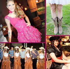 Vestidos lindos com botas Country!
