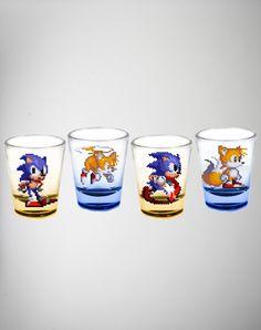 Sonic Shot Glass Set 4 Pk